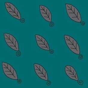 teal gray leaves