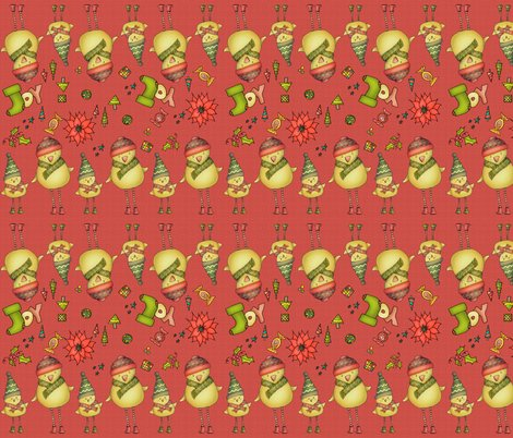 R001_xmas_two_chicks_fabric_v3_red_shop_preview