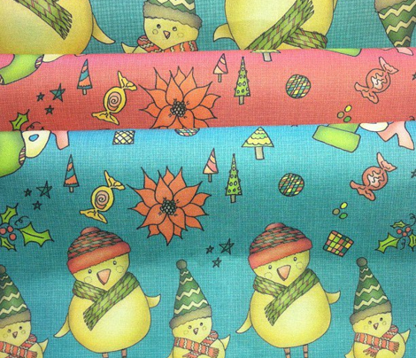 R001_xmas_two_chicks_fabric_v3_teal_comment_217745_preview