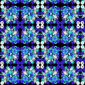 funky blue floral