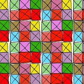 Stained Glass Checkerboard
