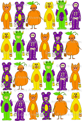 Costumes in White Background