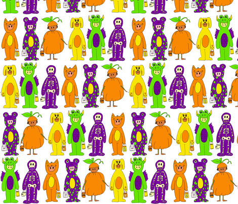 Costumes in White Background fabric by lauralvarez on Spoonflower - custom fabric