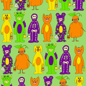 Costumes in Green Background