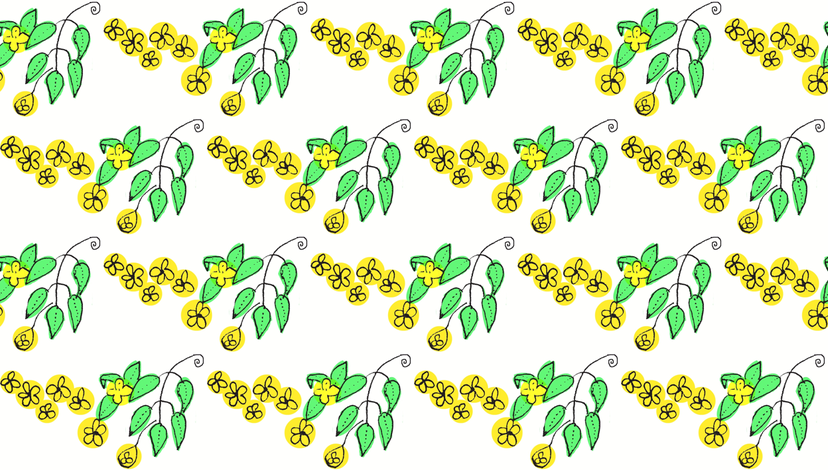 Yellow Flowers fabric by boris_thumbkin on Spoonflower - custom fabric