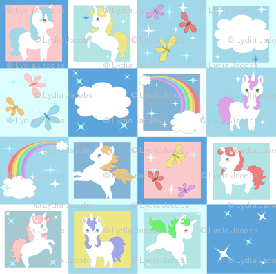 Little Unicorns Cheater Quilt