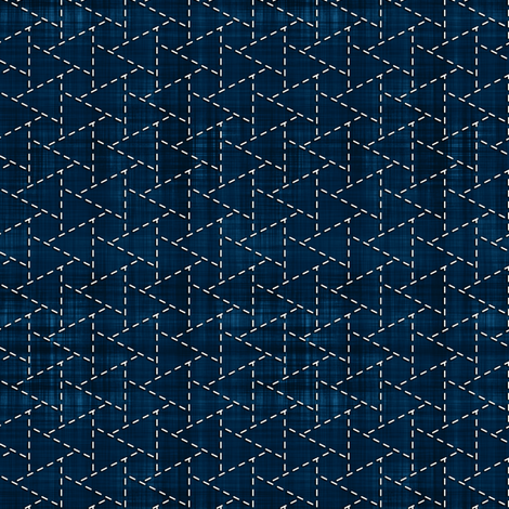 Sashiko: Musubi-Kikko - Linked tortoise shell fabric by bonnie_phantasm on Spoonflower - custom fabric