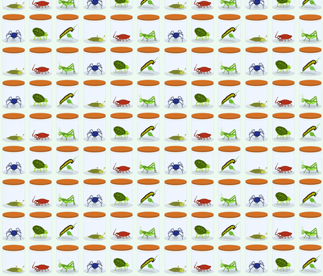 Caged Crawlies fabric by oceanpien on Spoonflower - custom fabric