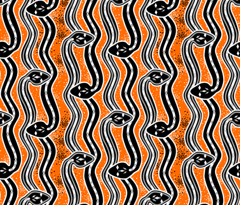 Slithering snakes fabric by su_g on Spoonflower - custom fabric