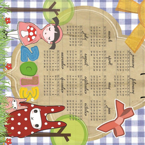 2013 Little Red &amp; the Rabbits Calendar