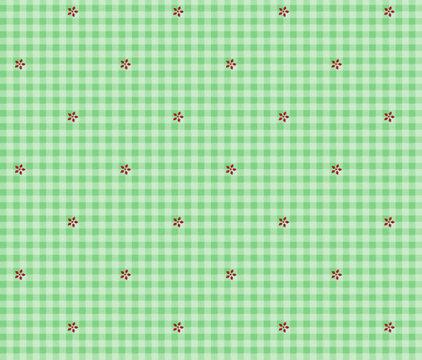 snow gingham fabric by mojiarts on Spoonflower - custom fabric