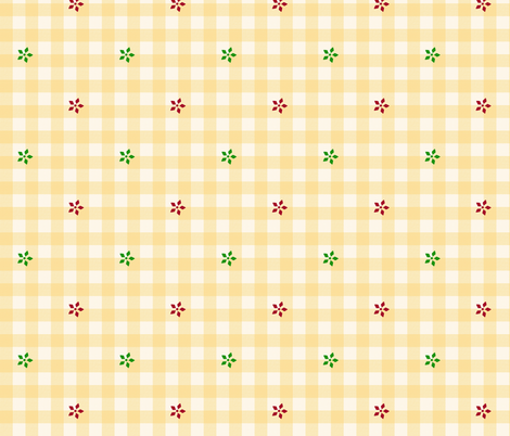snow gingham 2 fabric by mojiarts on Spoonflower - custom fabric