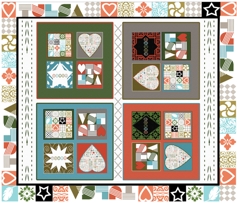 Tulsa Cheater Quilt #1 fabric by tulsa_gal on Spoonflower - custom fabric
