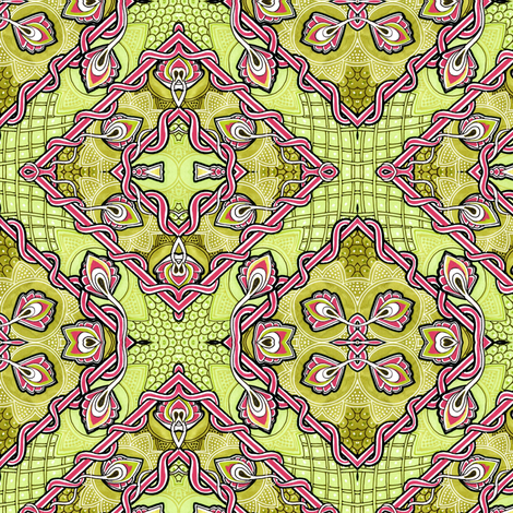 Bigger, Bolder, Lime Bud Patchwork Squares fabric by edsel2084 on Spoonflower - custom fabric