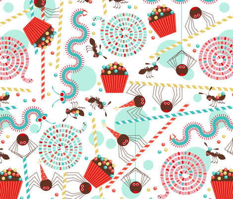 Creepy crawly party fabric by cjldesigns on Spoonflower - custom fabric