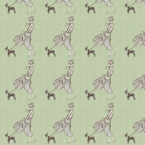 Walking the Boston fabric by ragan on Spoonflower - custom fabric