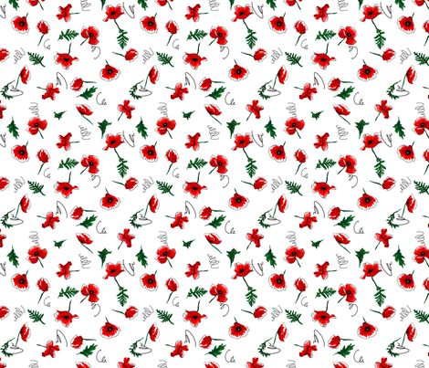 Poppies fabric by vlike on Spoonflower - custom fabric