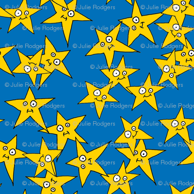 Hero Stars Blue Background