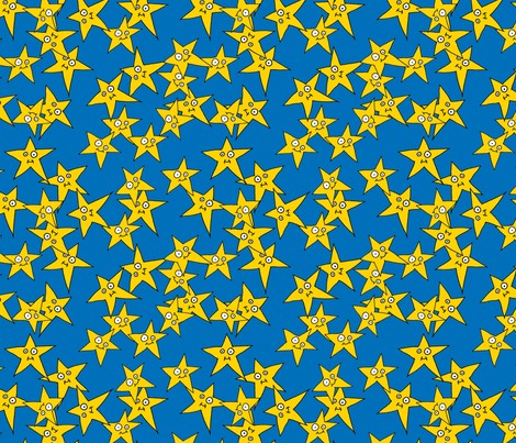 Hero Stars Blue Background fabric by joojoostrees on Spoonflower - custom fabric