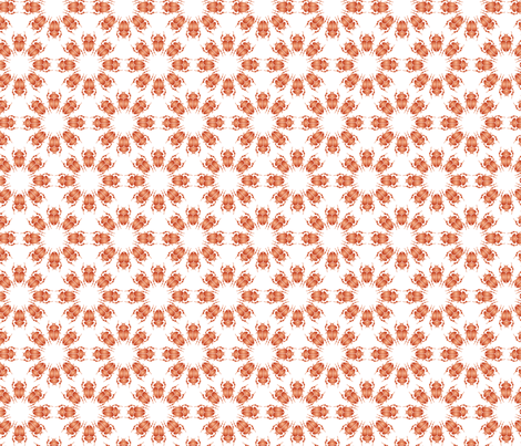 Orange bug flowers fabric by ebygomm on Spoonflower - custom fabric
