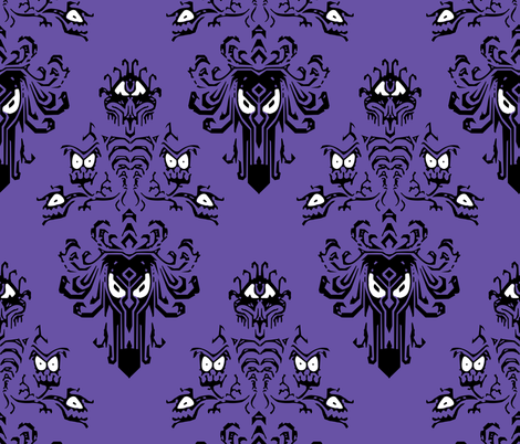 Haunted Mansion Wallpaper fabric by mellymellow on Spoonflower - custom fabric