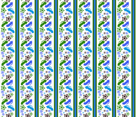 Snowy Punch Buggy fabric by olumna on Spoonflower - custom fabric
