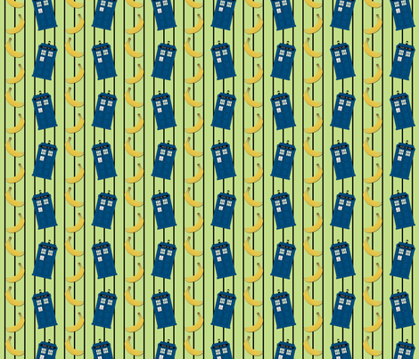 Bananas for Tardis fabric by risarocksit on Spoonflower - custom fabric
