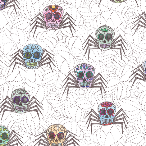 Sugar Skulltula fabric by leighr on Spoonflower - custom fabric