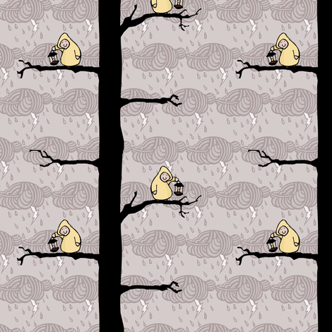 Lanterns in the Trees fabric by pond_ripple on Spoonflower - custom fabric