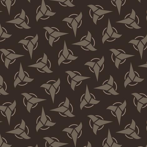 Klingon - Brown, Medium fabric by meglish on Spoonflower - custom fabric