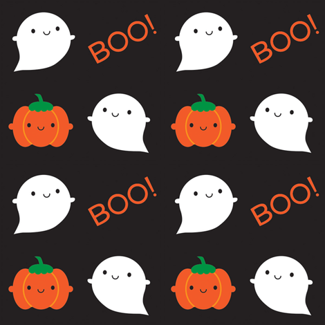 Boo! It's Halloween fabric by marcelinesmith on Spoonflower - custom fabric