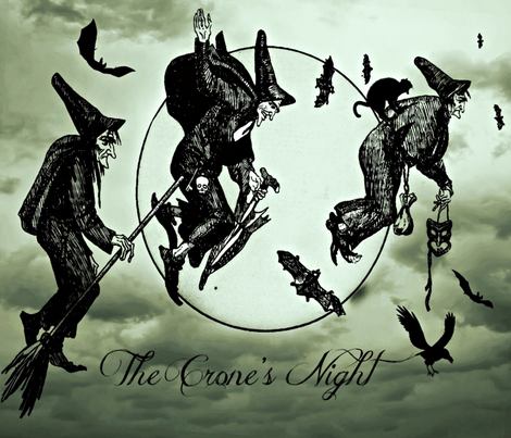 The Crone's Night  fabric by the_cornish_crone on Spoonflower - custom fabric