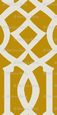 Imperial Trellis-Mustard