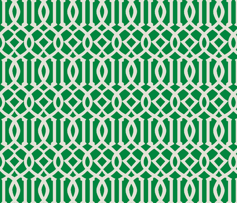 Imperial Trellis-Kelly Green fabric by melberry on Spoonflower - custom fabric