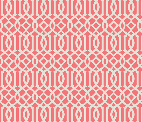 Imperial Trellis-Pink fabric by melberry on Spoonflower - custom fabric