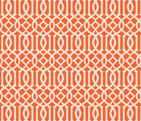 Imperial Trellis-Orange fabric by melberry on Spoonflower - custom fabric