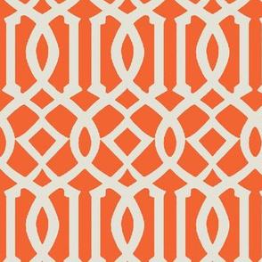 Imperial Trellis-Orange