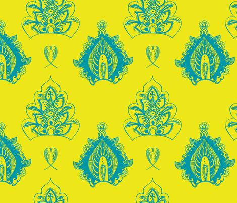 henna flower blue