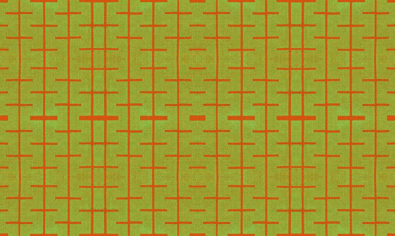 Yarrow stix - Lime green and terra-cotta orange