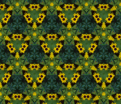 Black-Eyed Susan fabric by the_fretful_porpentine on Spoonflower - custom fabric
