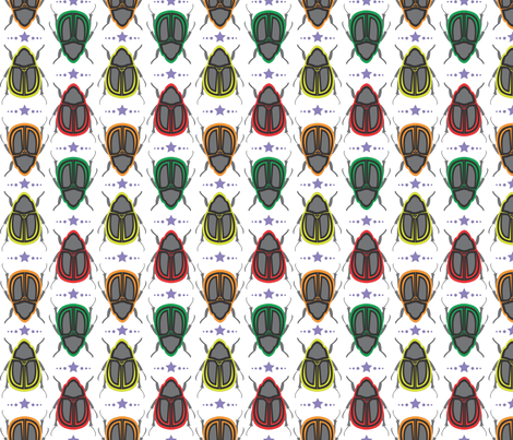 Beetles fabric by thebon on Spoonflower - custom fabric