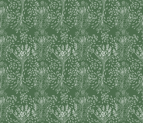 SilverTree fabric by wiccked on Spoonflower - custom fabric