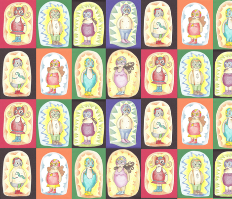 Gordi Fighters fabric by lauralvarez on Spoonflower - custom fabric