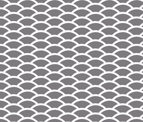 Steel Gray Scallop fabric by fridabarlow on Spoonflower - custom fabric