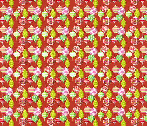 Christmas Tree Decor fabric by lauralvarez on Spoonflower - custom fabric
