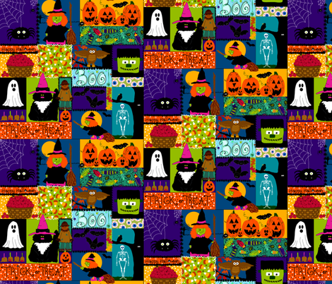 Creepy Crawly Halloween fabric by beebumble on Spoonflower - custom fabric