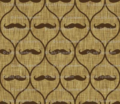 Mustache wallpaper burlap