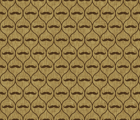 Mustache wallpaper burlap fabric by spacefem on Spoonflower - custom fabric
