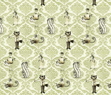 Aristocrat  Brocade fabric by paragonstudios on Spoonflower - custom fabric