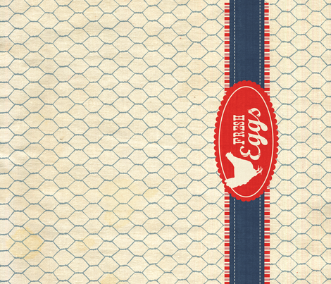 American Almanac Fresh Eggs fabric by bzbdesigner on Spoonflower - custom fabric